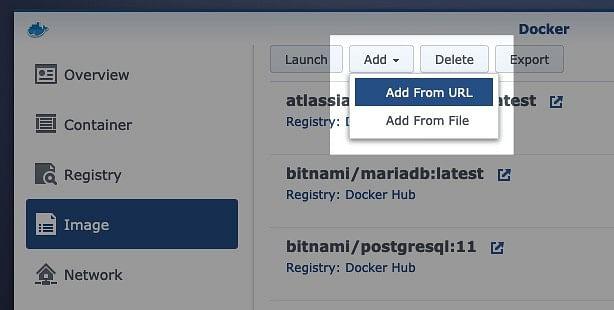 Add a Docker image on the Diskstation